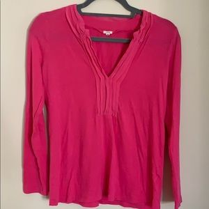 Pink J Crew soft long sleeve top